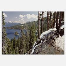 California, Lake Tahoe, Emerald Bay, High angle vi