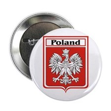 "Poland Soccer Shield 2.25"" Button (10 pack)"