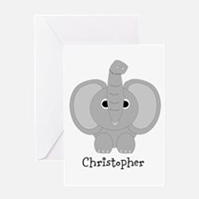 Personalized Elephant Design Greeting Card