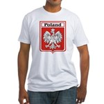 Poland Soccer Shield Fitted T-Shirt