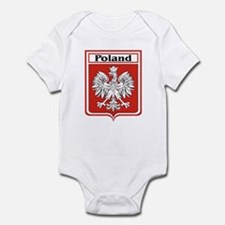 Poland Soccer Shield Infant Creeper