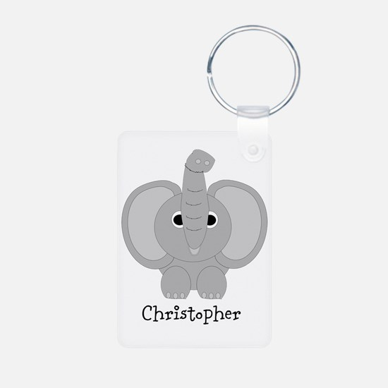 Personalized Elephant Design Keychains