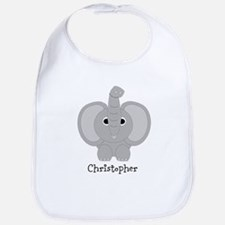 Personalized Elephant Design Bib