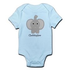 Personalized Elephant Design Infant Bodysuit