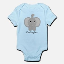Personalized Elephant Design Infant Bodysuit