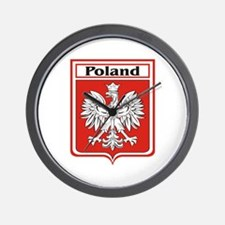 Poland Soccer Shield Wall Clock