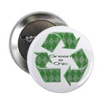 "Green is Chic 2.25"" Button"