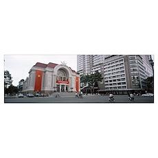 Municipal Theatre Saigon Vietnam Poster