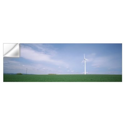 Germany, Wind turbine in the field Wall Decal