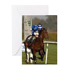 Racing Horse Greeting Card