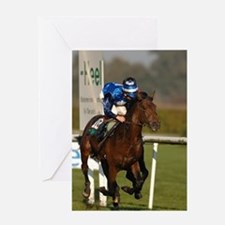 Racing Horse Greeting Card