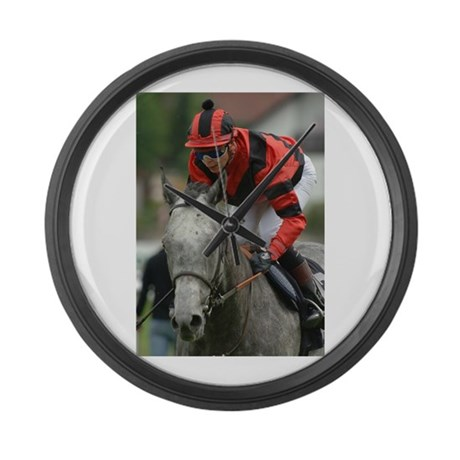 Racing Horse Large Wall Clock