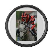 Racing Horse Large Wall Clock