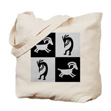Kokopelli Silver Tote Bag