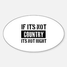 Cool Country designs Sticker (Oval)