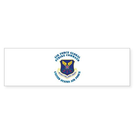 Air Force Global Strike Cmd with Text Sticker (Bum