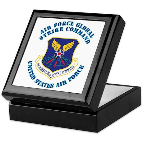 Air Force Global Strike Cmd with Text Keepsake Box