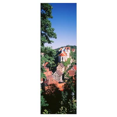 Germany, Village of Haigerloch Poster