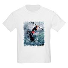 White Water Kayaking Kids T-Shirt