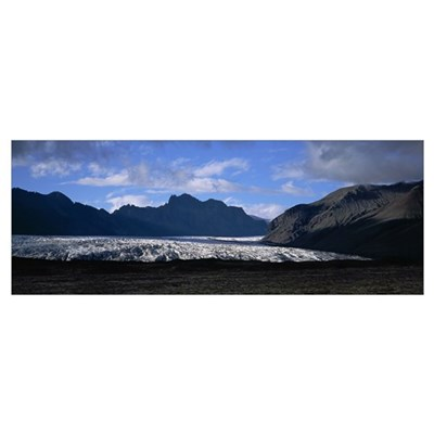 Iceland, Skaftafell National Park, Snow in the nat Poster