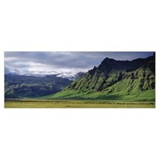 Iceland, South Coast, Sheer Basalt Cliffs, View of Poster