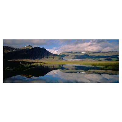 Iceland, Skaftafell National Park, Reflection of m Poster