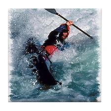 White Water Kayaking Tile Coaster