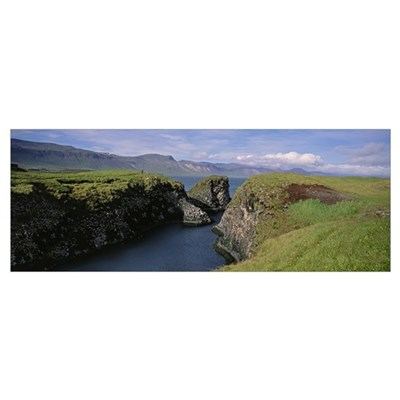 Iceland, Snaefellsnes Peninsula, Water flowing fro Poster