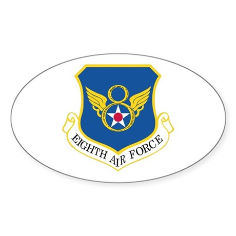 Eighth Air Force Sticker (Oval)