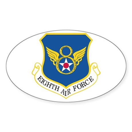 Eighth Air Force Sticker (Oval 50 pk)