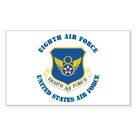Eighth Air Force with Text Sticker (Rectangle)