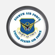 Eighth Air Force with Text Wall Clock