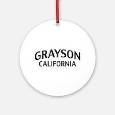 Grayson California Ornament (Round)