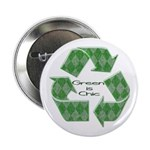 "Green Chic 2.25"" Button (10 pack)"