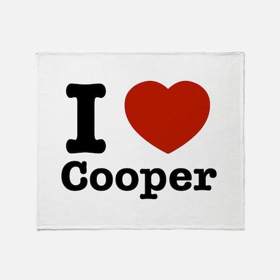 I love Cooper Throw Blanket
