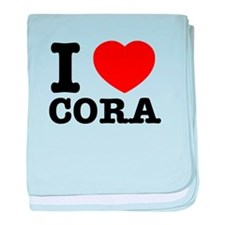 I love Cora baby blanket