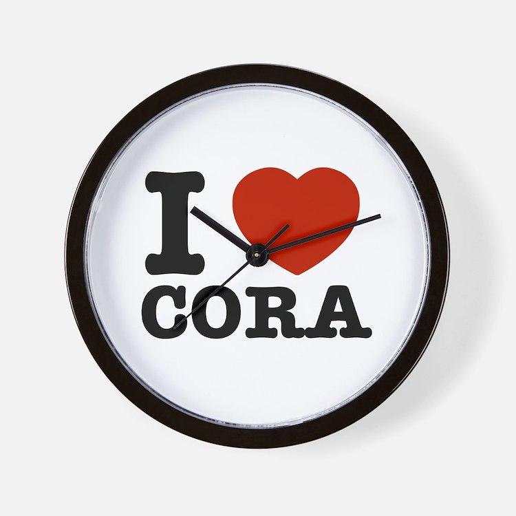 I love Cora Wall Clock