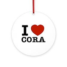 I love Cora Ornament (Round)