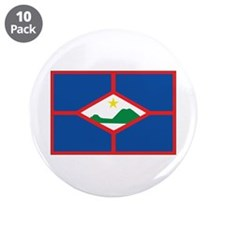 "Sint Eustatius Flag 3.5"" Button (10 pack)"