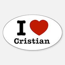 I love Cristian Sticker (Oval)