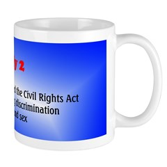 Mug: President Johnson signed the Civil Rights Act