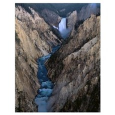 Wyoming, Yellowstone National Park, Lower Falls, W Poster