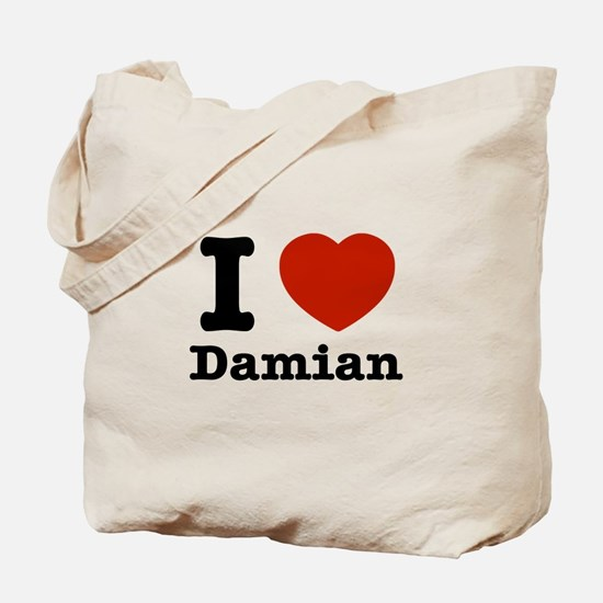 I love Damian Tote Bag