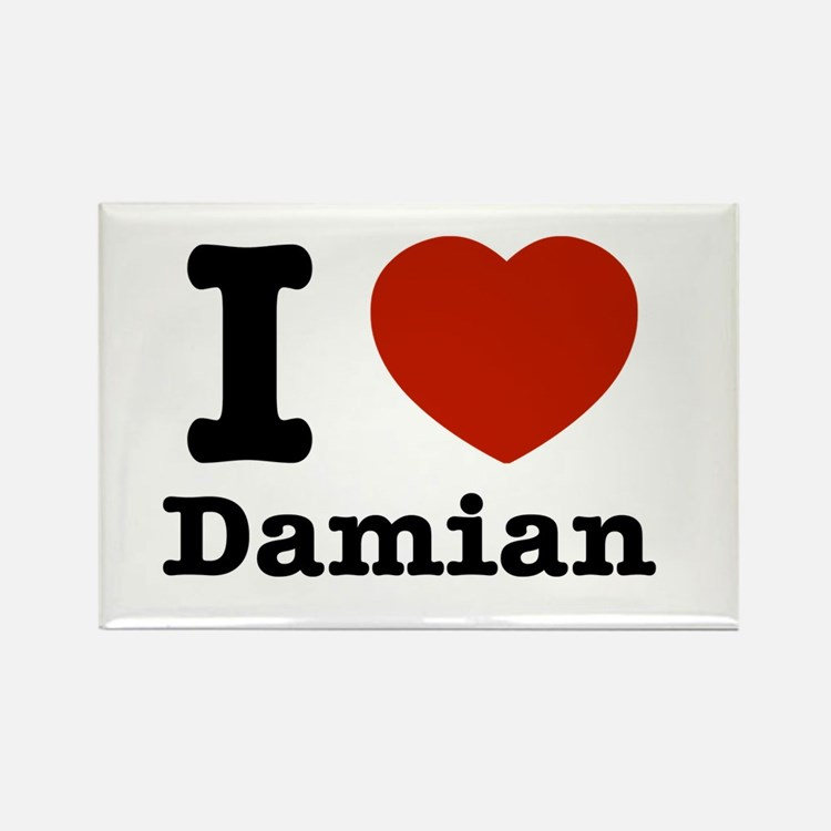 I love Damian Rectangle Magnet