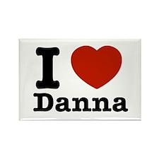 I love Danna Rectangle Magnet