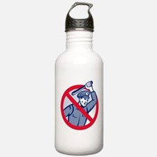 Police brutality Water Bottle