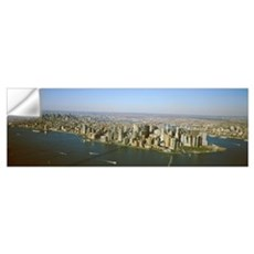 New York, New York City, Aerial view of Lower Manh Wall Decal