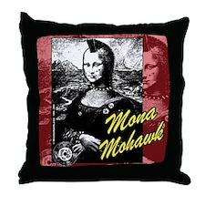 Mona Mohawk Throw Pillow