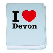 I love Devon baby blanket