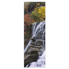 Low angle view of a waterfall, Ithaca Falls, Tompk Poster